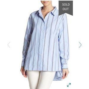 """Walter Baker Blue/Striped """"Myron"""" Shirt"""